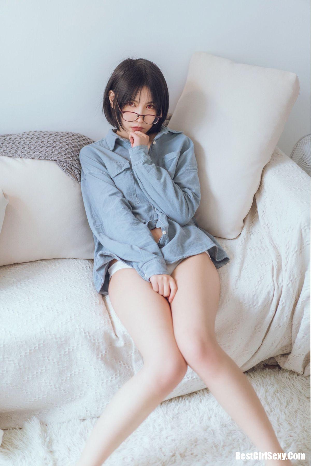 Coser@逐月su 蓝色衬衫