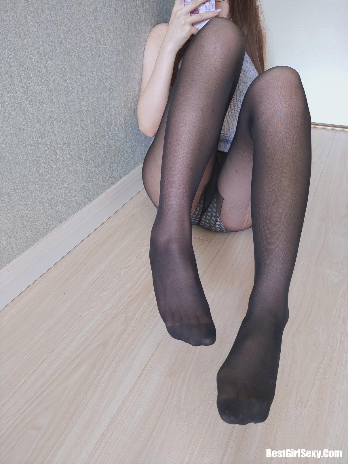 黑丝漏背毛衣, 雪晴Astra, Coser@雪晴Astra Vol.021 黑丝漏背毛衣