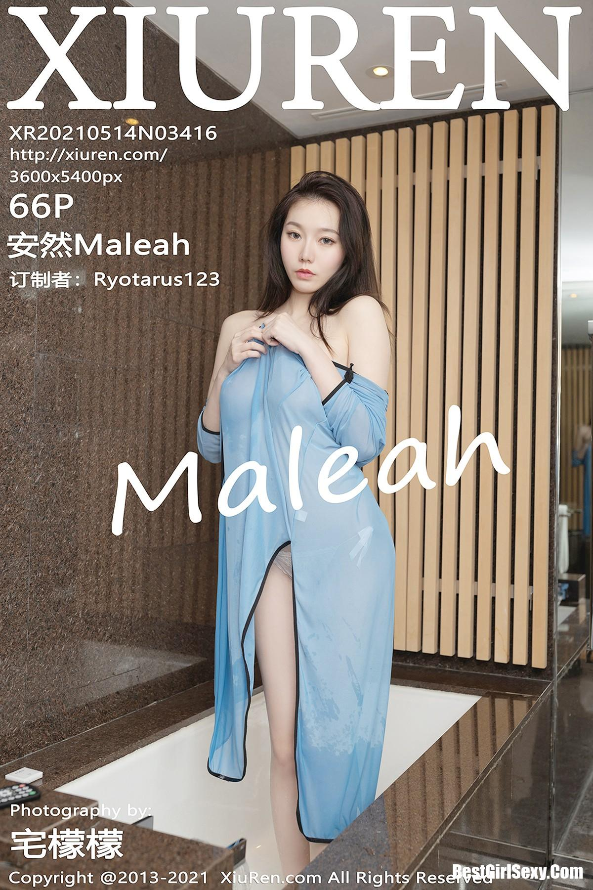 XiuRen秀人网 No.3416 An Ran Maleah 614