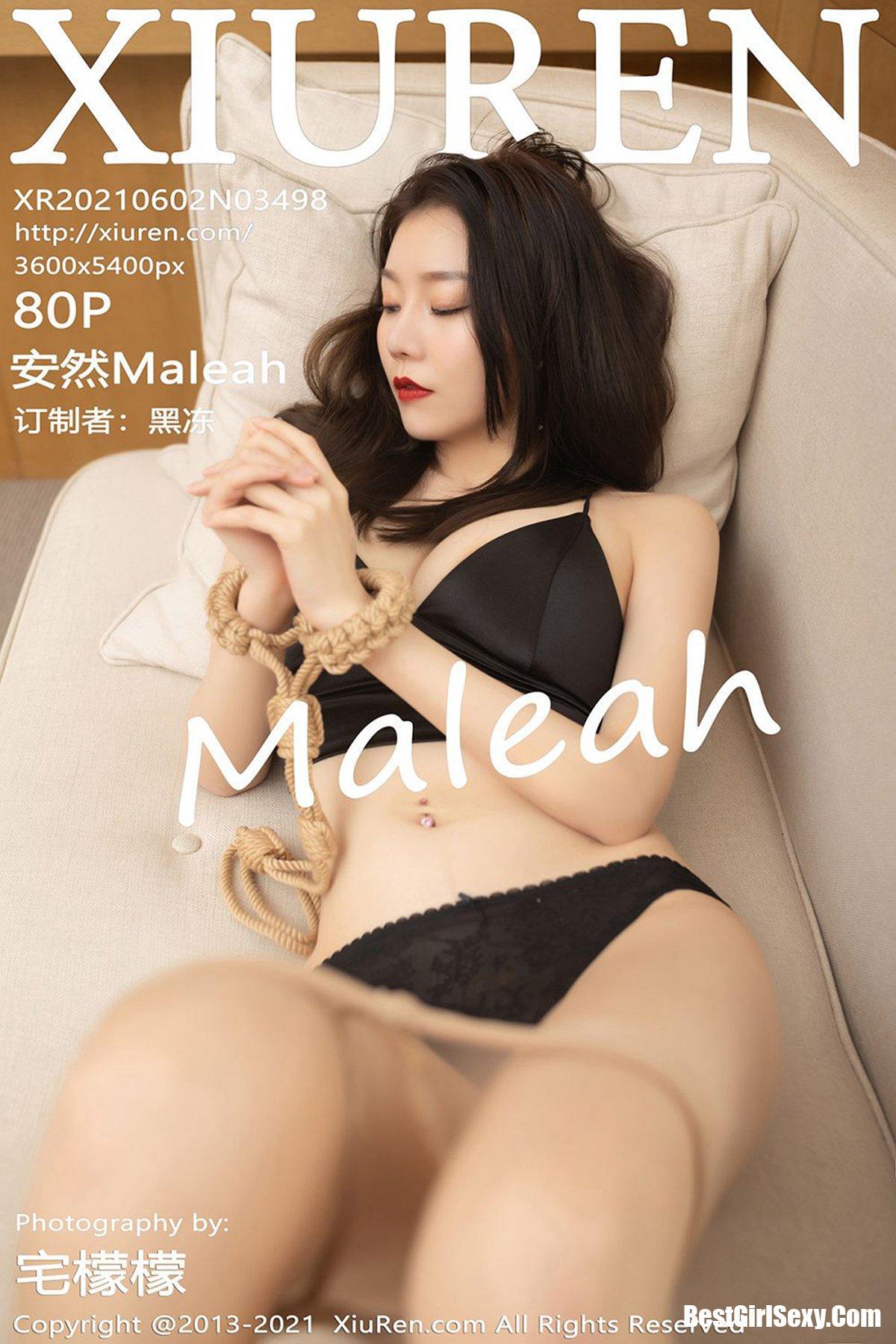 XiuRen秀人网 No.3498 An Ran Maleah 396